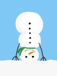 snowman-headstand